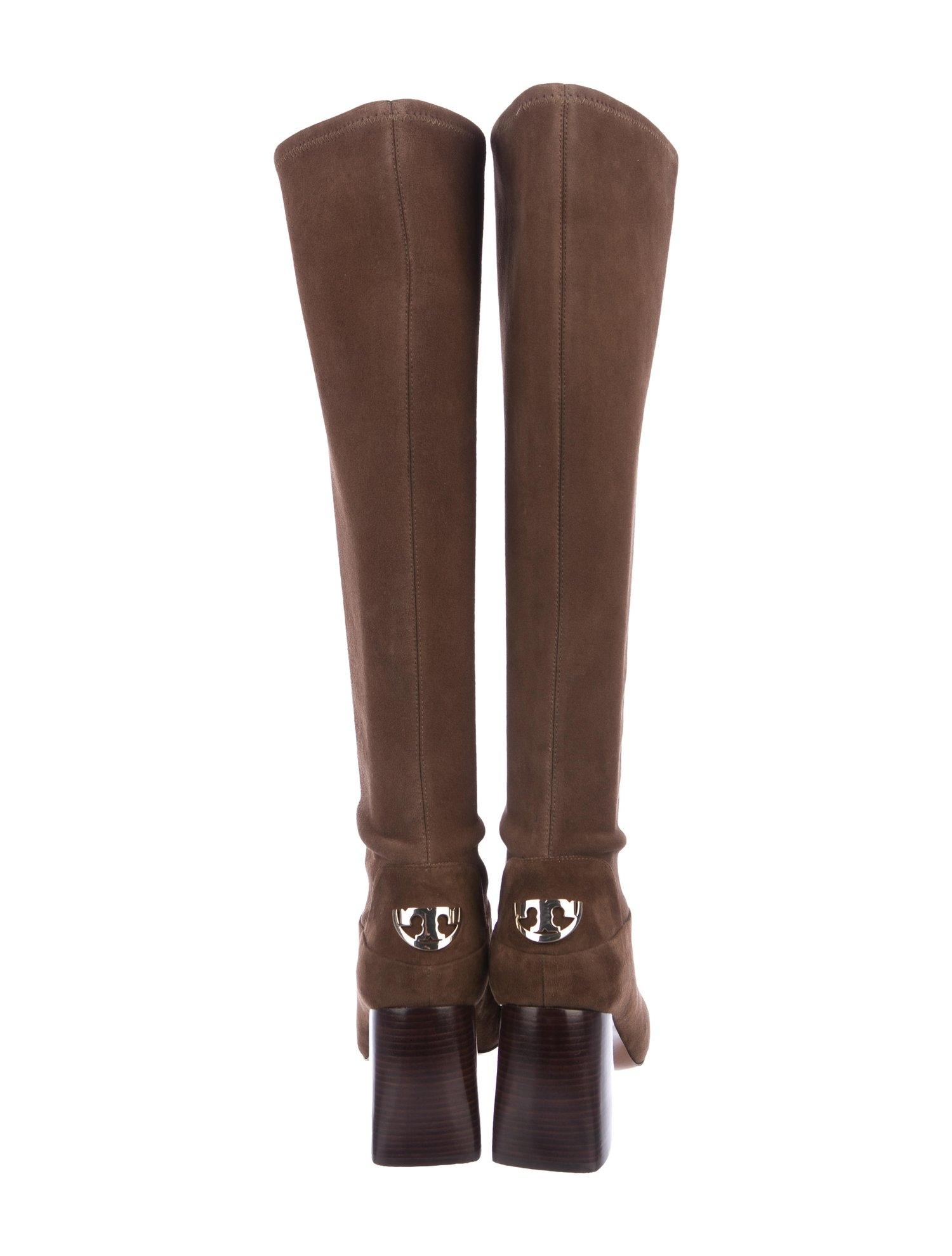 2578f8c92 ... Tory Burch Brown New Stretch Knee High Suede Winter Boots Booties Boots Booties  Boots ...
