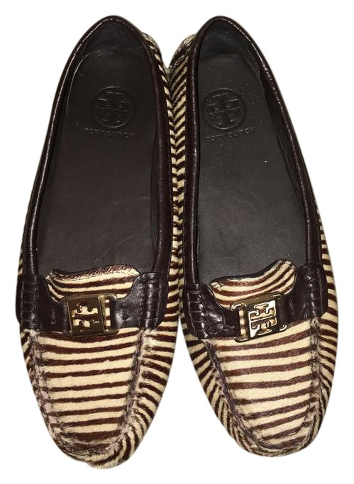 outlet very cheap Tory Burch Ponyhair Round-Toe Flats outlet discount sale IVWRs3sYJ