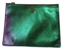 Tory Burch Green & Purple Clutch