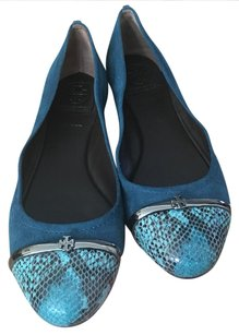 Tory Burch Deep Sea Blue / Teal Flats