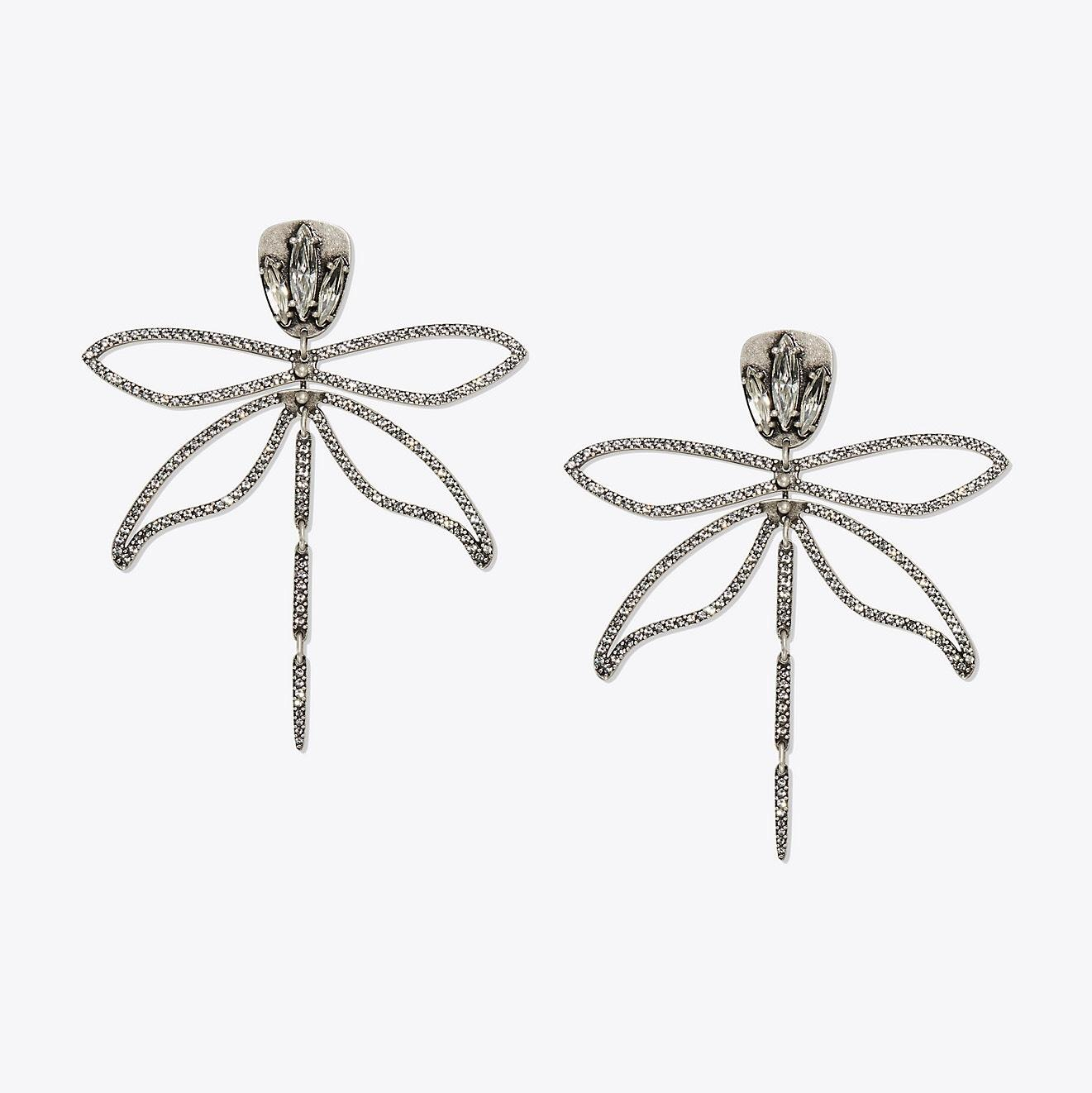 Tory Burch Articulated Dragonfly Earrings uN3Ys1