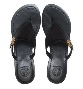 Tory Burch Eloise Flat Thong Black Sandals
