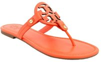 Tory Burch Patent Saffiano Red Sandals
