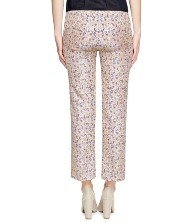 Tory Burch Frances Printed Silk-faille Straight Pants - 75% Off Retail 70%OFF