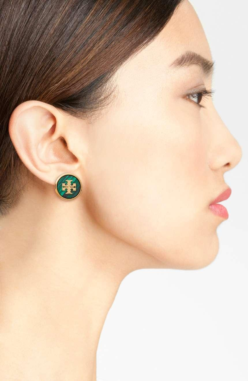 Tory Burch Semi Precious Stud Earrings G9UiCsM