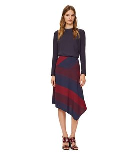 Tory Burch Lela Rose Isabel Marant Rebecca Taylor Iro Rag & Bone Skirt Red / Navy