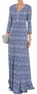 Blue Maxi Dress by Tory Burch Maxi Ester Beaded Silk
