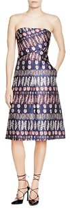 Tory Burch Metallic Fern Strapless Dress