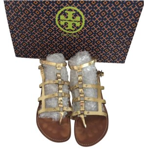 Tory Burch Metallic Gladiator gold Sandals