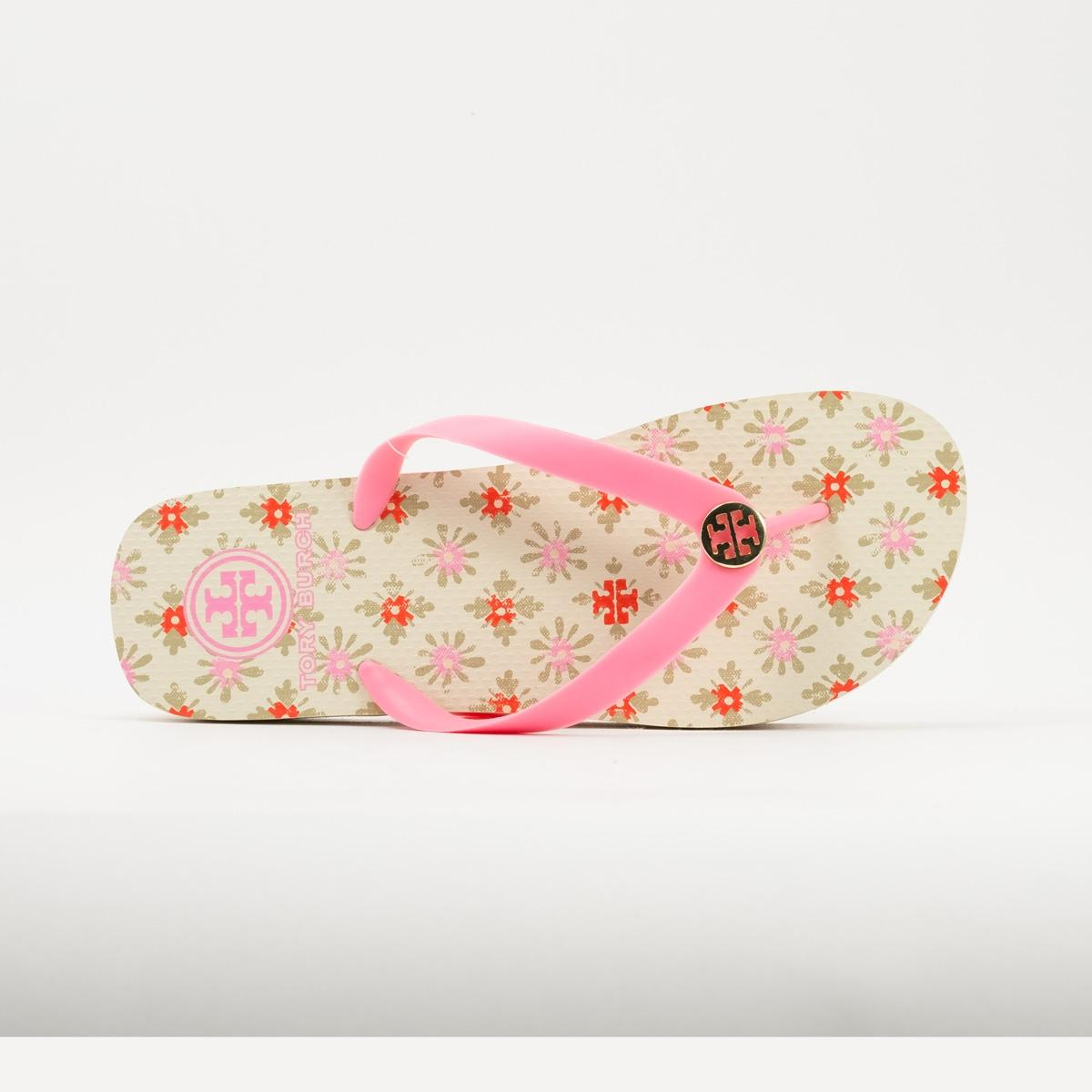 fb2493aaf09 ... Tory Tory Tory Burch Multicolor Logo Rubber Flip Flop Sandals Size US 7  Regular (M ...