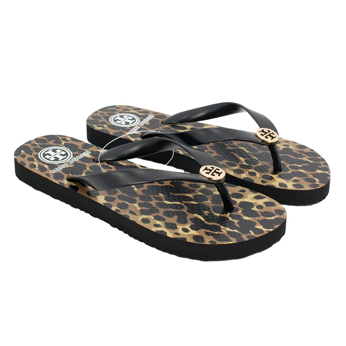 755db092860bd Tory Burch Multicolor Logo Rubber Rubber Rubber Flip Flop Sandals Size US 9  Regular (M