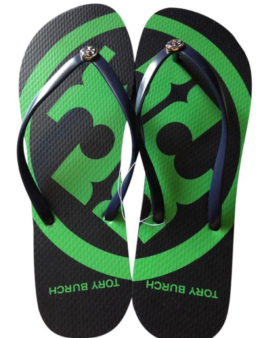 a8eb09e25 Tory Burch Multicolor Navy Navy Navy   Green Emory Flip Flop Sandals Size US  8 Regular (M