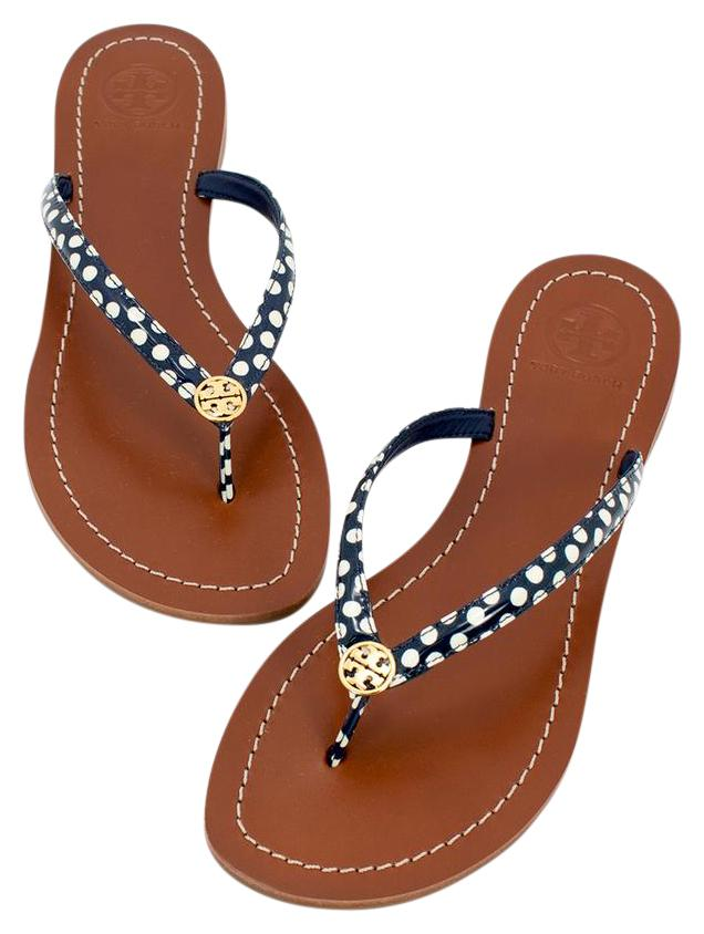 Tory Burch 190041469246 Navy/White Sandals ...