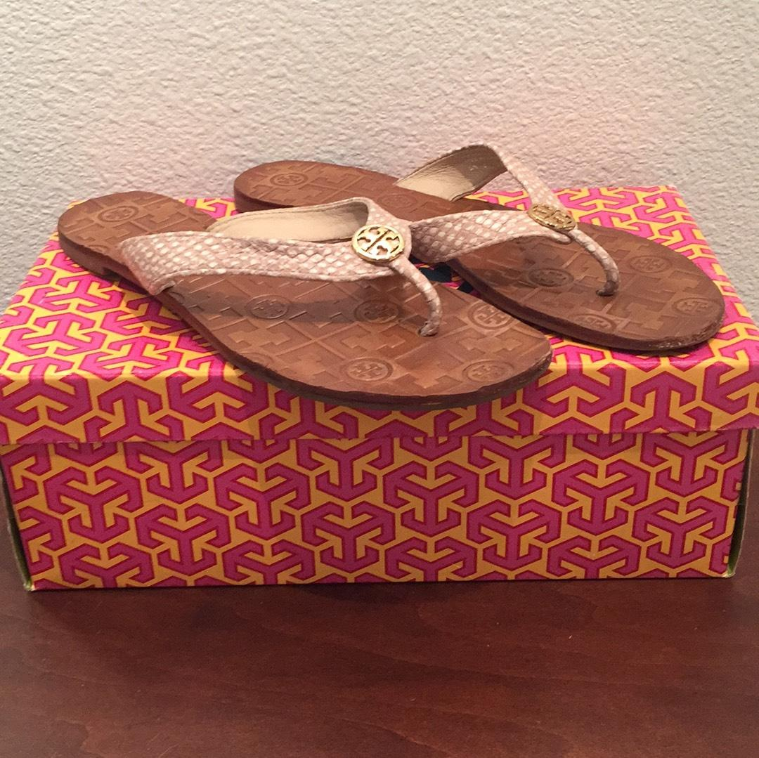 955647b01f8 Tory Tory Tory Burch Nude with White Dots Thora Sandals Size US 8 Regular (M