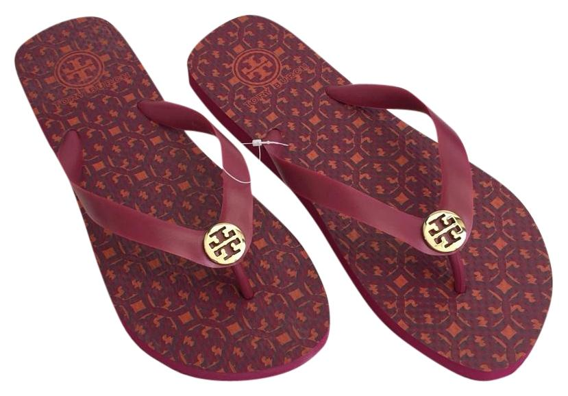 d0c3498bf Tory Burch Party Party Party Fuchsia New Flip Flop Sandals Size US 7 Regular  (M