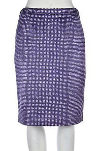 Tory Burch Womens Purple Skirt Multi-Color