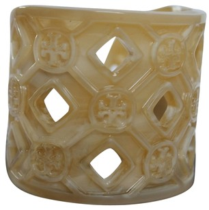 Tory Burch PERFORATED RESIN LOGO CUFF BRACELET