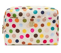 Tory Burch Printed Nylon Large Beauty Bag Multi Dot