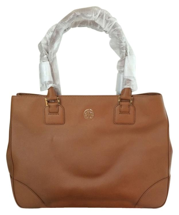 Tory Burch Robinson Ew Large East West Tote in Luggage Brown ...