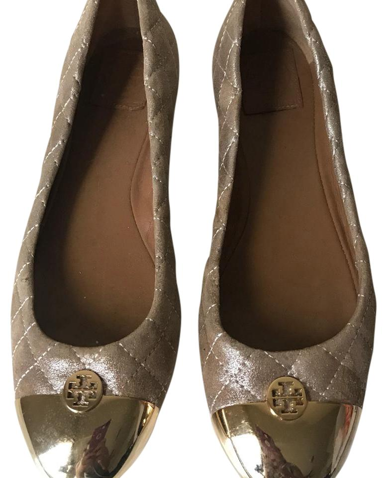 929620c153bf Tory Quilted Burch Rose Gold Kaitlin Quilted Tory Flats Size US 10 Regular ( M