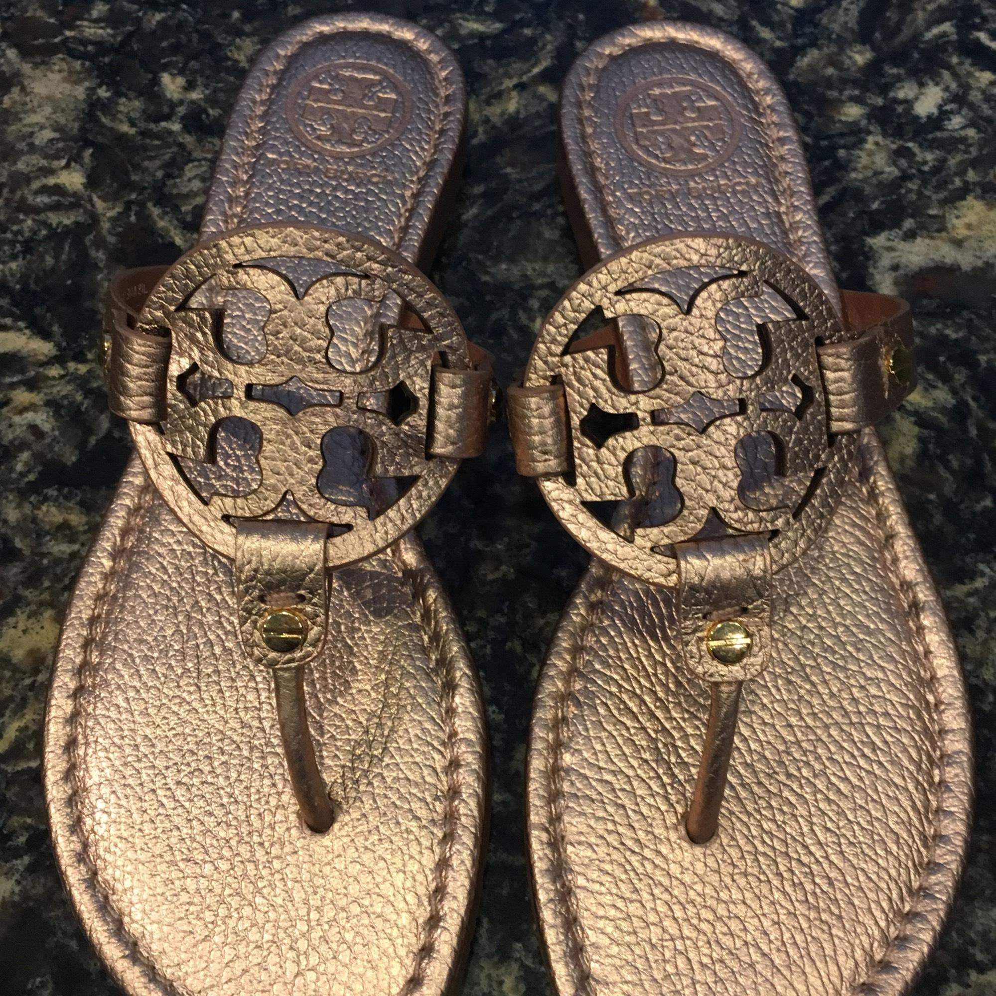 c42566e7947 Tory Burch Rose Gold Miller Miller Miller Sandals Size US 8.5 Regular (M, B