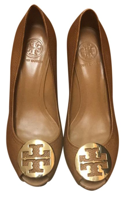 45784e86b09da4 Tory Burch Royal Tan Pump Wedges Size US US US 9 078f59 - safety ...
