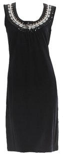 Tory Burch short dress Black Shift Embellished Crystal on Tradesy
