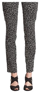 Tory Burch Skinny Pants Black Dotted Pony