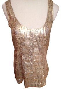 Tory Burch Top Shiny Gold