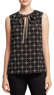 Tory Burch Tanya Silk Top Black
