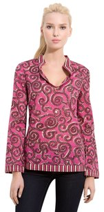 Tory Burch Top Fuschia Sapello Stephanie Tunic