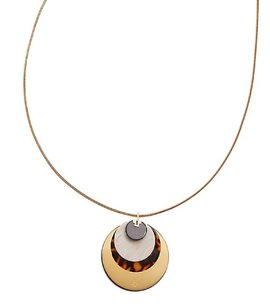 Tory Burch Tory Burch Multi Stacked Disk Pendant Necklace 175.00