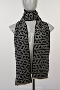 Tory Burch Tory Burch Womens Black Knit Scarf One Wool Casual