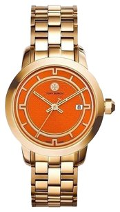 Tory Burch TRB1006 Women's Gold Swiss Stainless Steel Orange Dial Watch