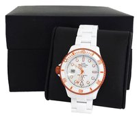 ToyWatch White & Orange 'Fluo' Plastic Watch