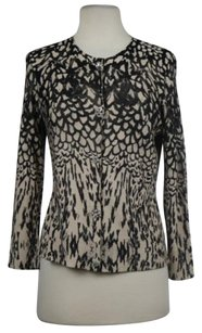 Tracy Reese Womens Printed Cardigan Long Sleeve Shirt Sweater