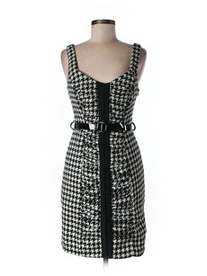 Tracy Reese Houndstooth Shift Sheath Dress
