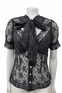 Tracy Reese Bow Ties Top Black