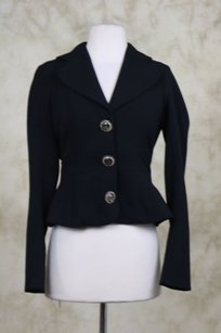Tracy Reese Tracy Reese Womens Black Blazer Career Jacket