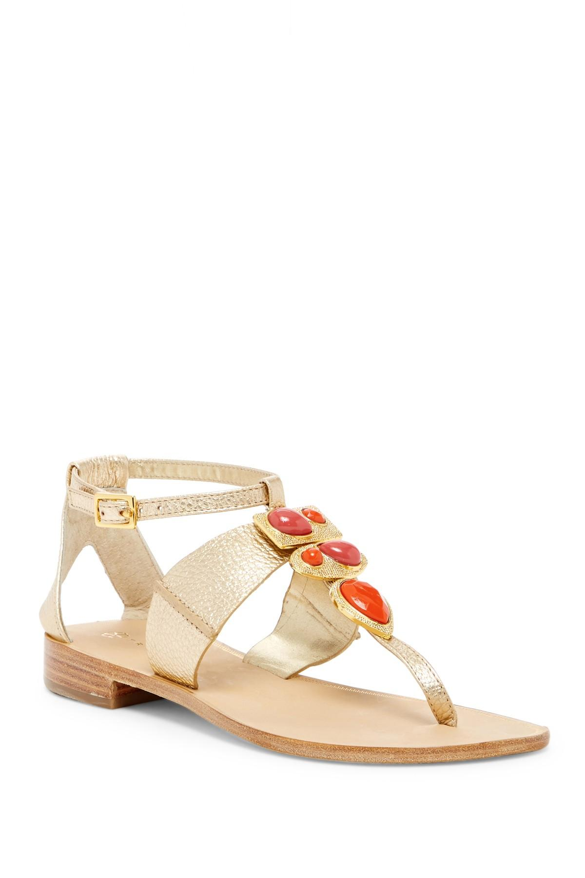 Trina Turk Gold All About That Embellished Sandal TyKlec