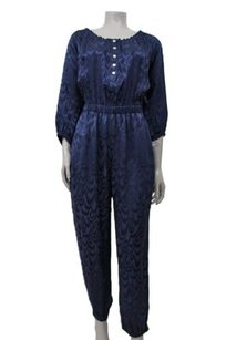 Trina Turk Navy Textured Silk Dress