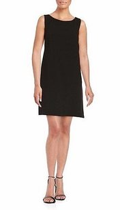 Trina Turk short dress Black Brynne Luxe Drape Sleeveless Shift 0 230607e on Tradesy