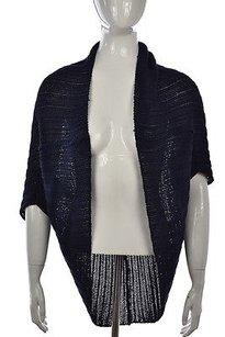 Trina Turk Womens Navy Shrug Sweater
