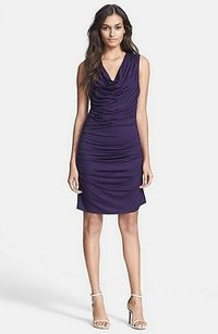 Trina Turk Kace Shirred Side Ruched Stretch Fit P 190933f Dress