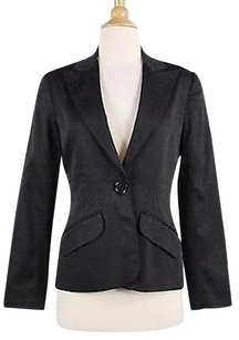 Trina Turk Trina Turk Womens Black Printed Blazer Long Sleeve Acetate Blend