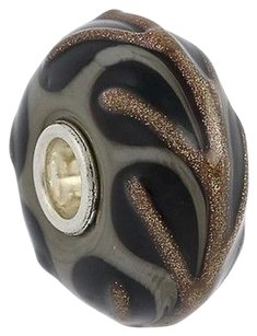 Trollbeads Trollbeads Charm - Sterling Silver Murano Glass Bead 64609-2 2012 Christmas