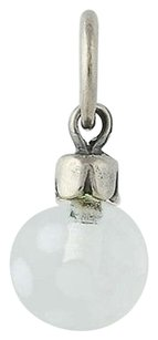 Trollbeads Trollbeads Charm - Sterling Silver Murano Glass Ornament White Dots 2012