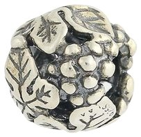 Trollbeads Trollbeads Wine Harvest 11329 Sterling Silver Bead Charm Grapes Floral