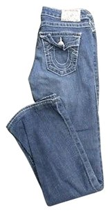 True Religion Blue Wash Boot Cut Jeans