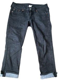 True Religion Demin Capri/Cropped Denim-Dark Rinse